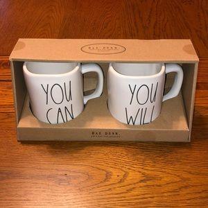 NEW Rae Dunn You Can/You Will Mug Set